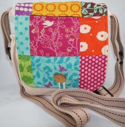 Japanese Linen Messenger Bag