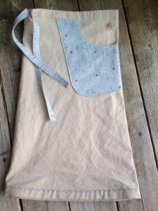 Bending Pins Linen Zakka Style Drawstring Skirt