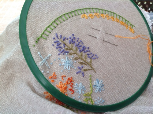 Bending Pins: Embroidered Garden