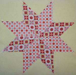 Y-Seam 8-point star block