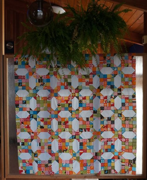 Bending Pins: Oh Deer! Quilt Top Inside