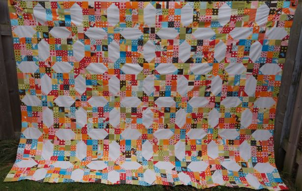 Bending Pins: Oh Deer! Quilt Top Outside