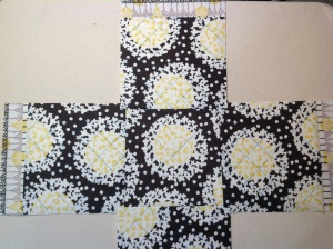 Pieces are quilted after initial sewing.