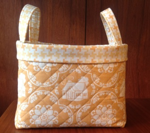 Bending Pins: Quilted Basket